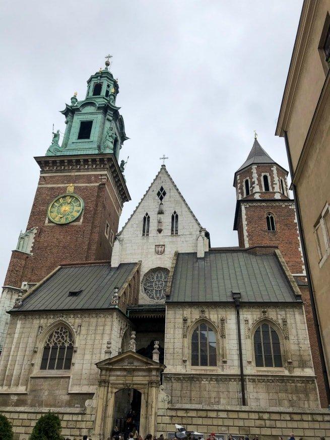 Campanile e torri della cattedrale di Wawel