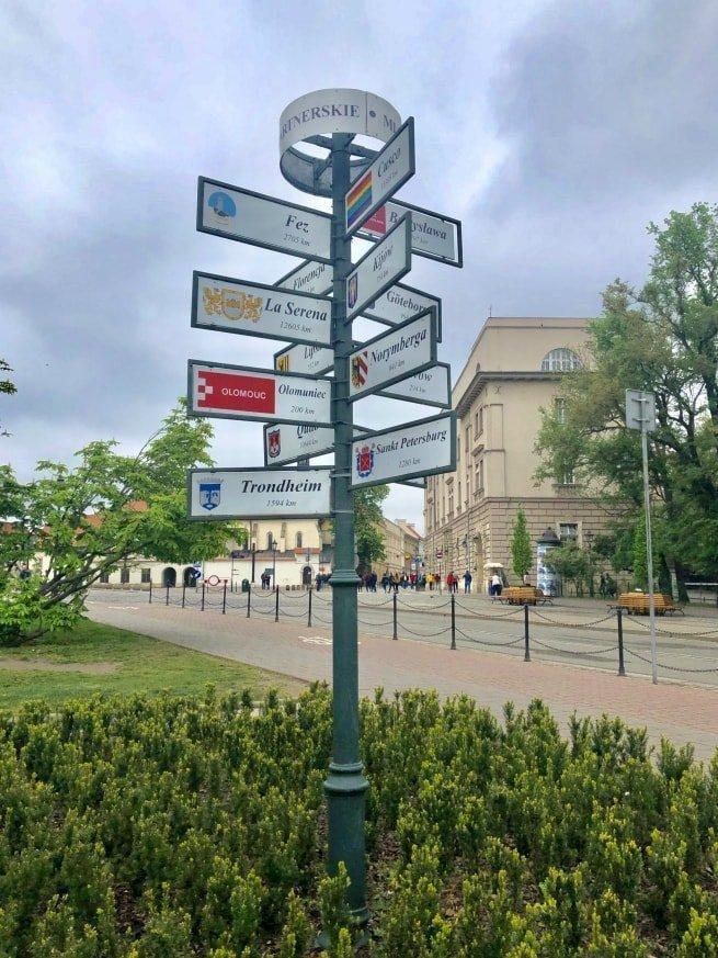 Sulla strada per raggiungere la collina di Wawel
