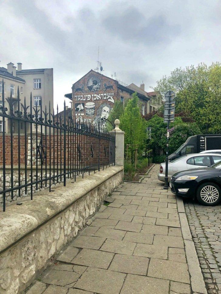 Street art a Kazimier, quartiere ebraico di Cracovia