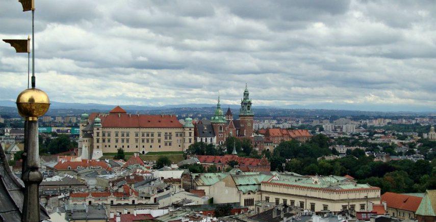 Vista dall'alto su Cracovia